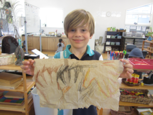 Montessori Dolphins learn about Early Humans